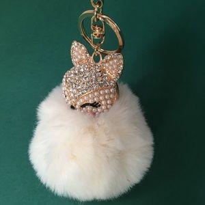 Accessories - NEW! Adorable Snow White Fox Fur Bag/Keychain